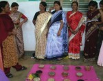 Women participating in seed mela