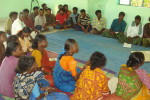 A village level meeting in progress