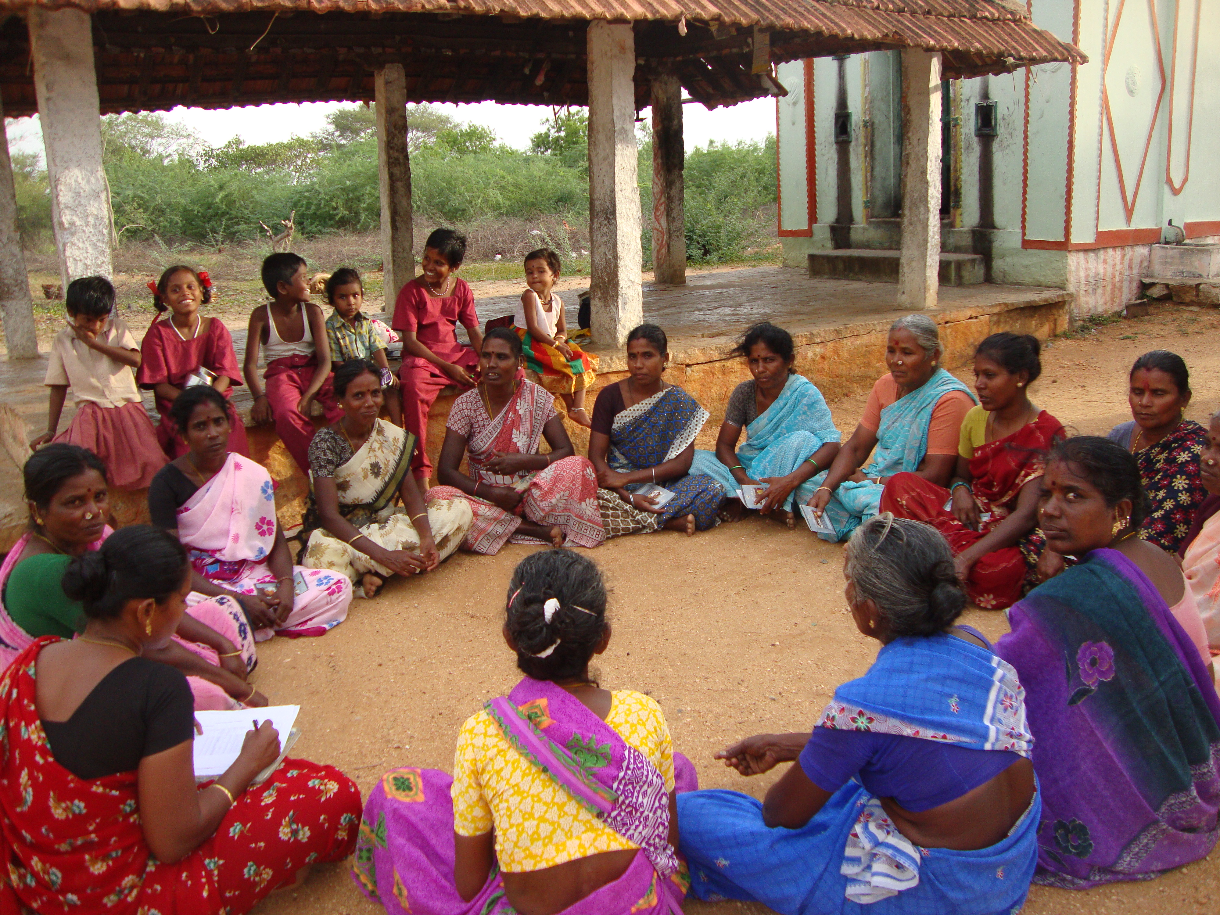 Women's group meeting in progress