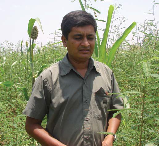 Nandish, a farmer who adopts LEISA practices