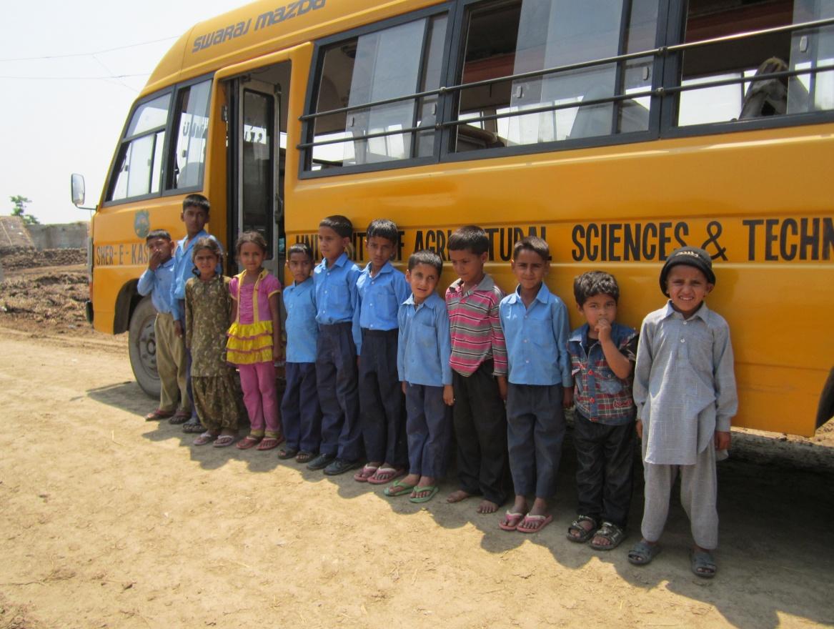 Gujjar kids dressed in school uniform