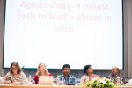 The multistakeholder panel suggested ways to scale up agro ecology in Asia and the Pacific region