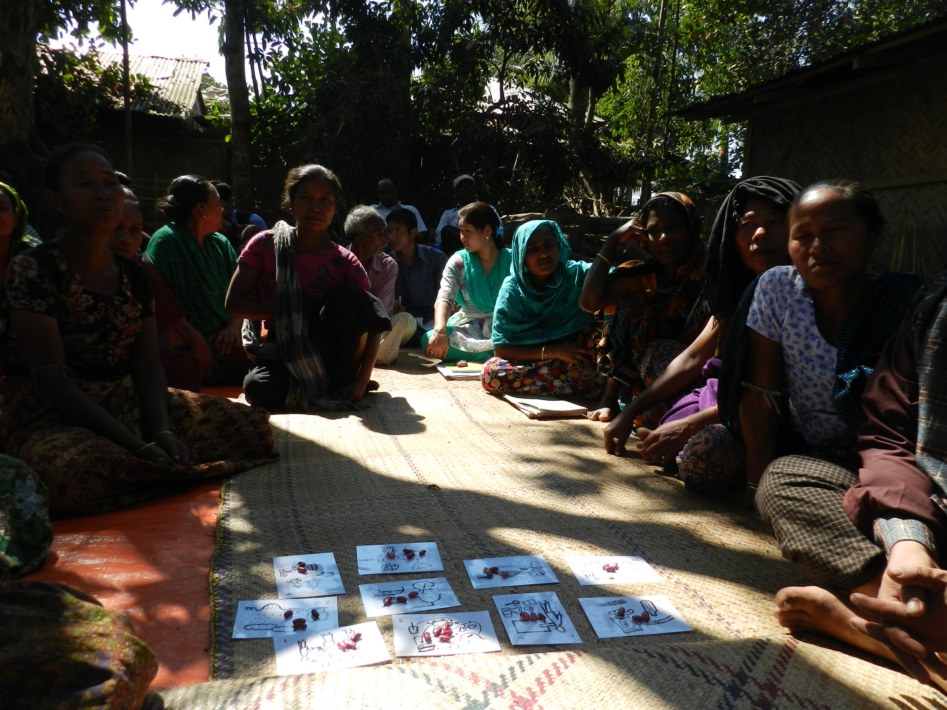 A community monitoring session in CHT, Bangladesh